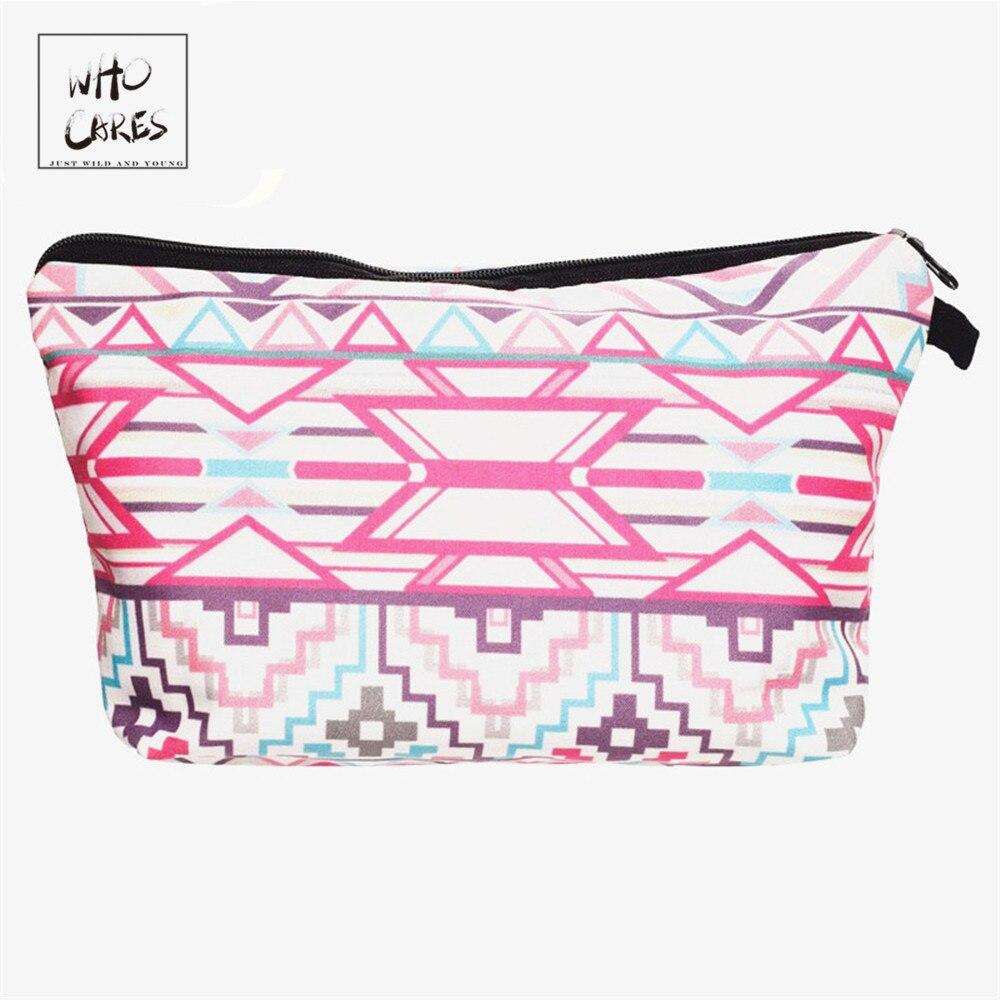 Who Cares Fashion Makeup Bags Elegant Classic Printing 3D Printing Cosmetics Bag For