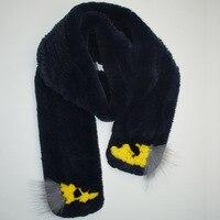 MS. MinShu Marke Winter Schal Echt Rex Kaninchenfell Schal Handgestrickte Mode Frauen Schal Natürliche Kaninchenfell Schal fabrik preis