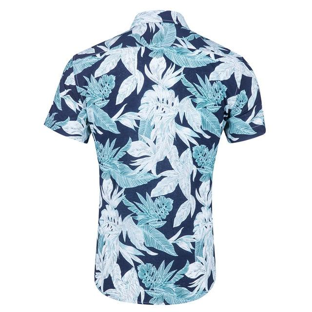 9bda08e4f1 Mens Summer Short Sleeve Hawaiian Shirt Men Casual Plus Size Floral Dress  Shirts Beach Vacation Shirt Camisa Social Masculina