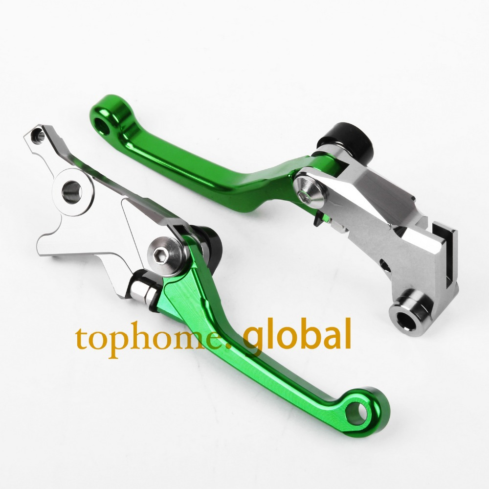 New Motorcycle One Pair Top CNC Pivot Brake Clutch levers Set For KAWASAKI KLX250,D-TRACKER 2008-2013 2009 2010 2011 2012 Green motorcycle pivot brake clutch levers cnc golden brake clutch lever for kawasaki klx 150 s 2009 2010 2011 2012