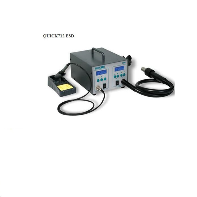 QUICK 712 ESD Rework System QUICK 712High Power Hot Air + Station Iron 1000W With 3 air nozzles power system power system l carnitine fire 54000 1000