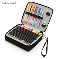 Dainayw 127 Holders Large Capacity School Pencil Case PU Leather Portable Colored Pencil Holder Pen Bag
