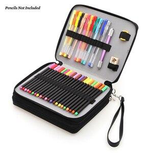 Image 1 - Dainayw 127ホルダー大容量スクール鉛筆ケースpuレザーポータブル色鉛筆ホルダーペンバッグ用アーティスト生徒