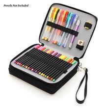 Lapicero escolar de gran capacidad Dainayw 127, Portable de cuero PU, bolsa de soporte para lápiz de colores para estudiantes artistas