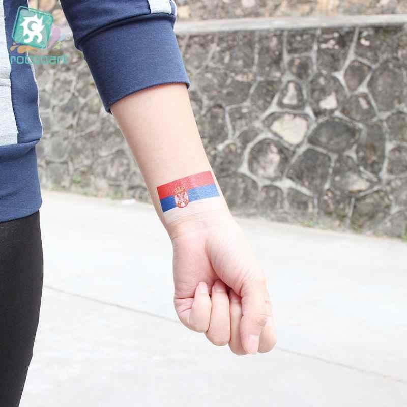 1000 шт/партия русские футбольные фанаты национальные татуировки-наклейки с флагами фанаты Переводные татуировки Мехико Испании Франции