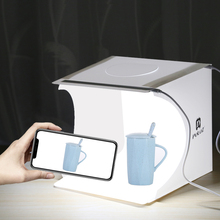Mini Photo Studio Folding Lightbox Photography Softbox 2 Panel LED Light Soft Box Photo Background Kit Light box for DSLR Camera