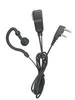 מכשיר הקשר G צורה Earhook מיקרופון אפרכסת מכשיר הקשר Headset לקבלת Kenwood במשך Baofeng עבור לינטון עבור Wouxun עבור PUXING 2 פינים רדיו (4)
