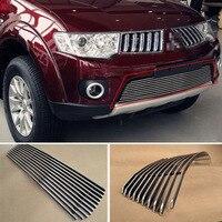Alloy Aluminium Front Center Racing Mesh Bumper Grills Billet Grille Cover For Mitsubishi Pajero Sport 2011