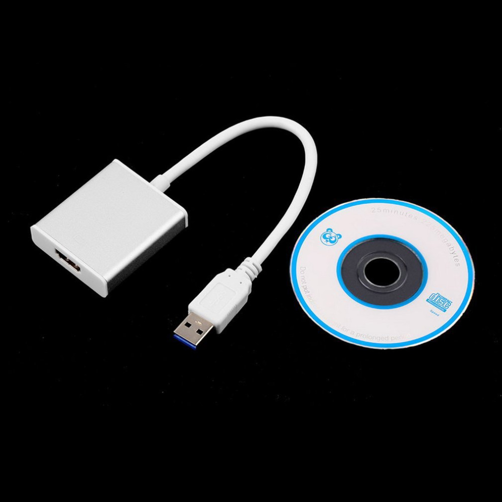 High Speed Transmission USB 3.0 To HDMI Audio Video Adaptor Converter Cable Suitable For Windows 7/8/10 Compact Size
