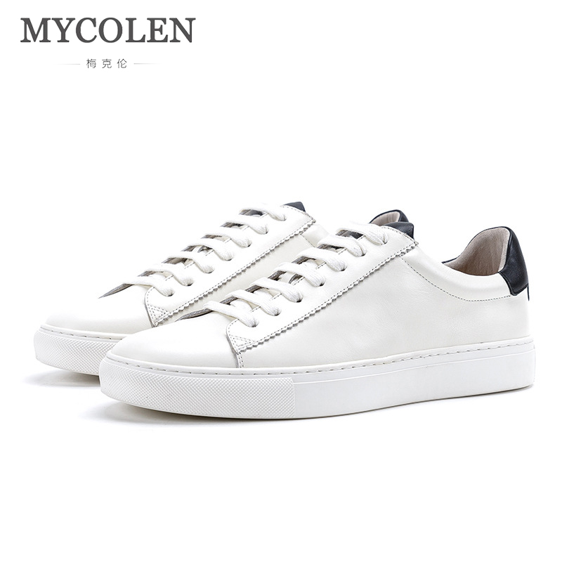 все цены на MYCOLEN Korean Version Of The New Classic Low-Cut Men'S Shoes Student Shoes Casual Leather First Layer Leather Tide Shoes онлайн