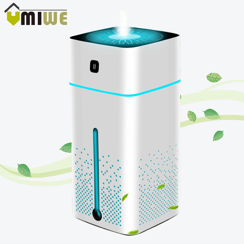 1000ML Large Capacity USB Air Humidifier Ultrasonic Purifier Aroma Essential Oil Diffuser Cool Mist With Night Light For Home in Humidifiers from Home Appliances