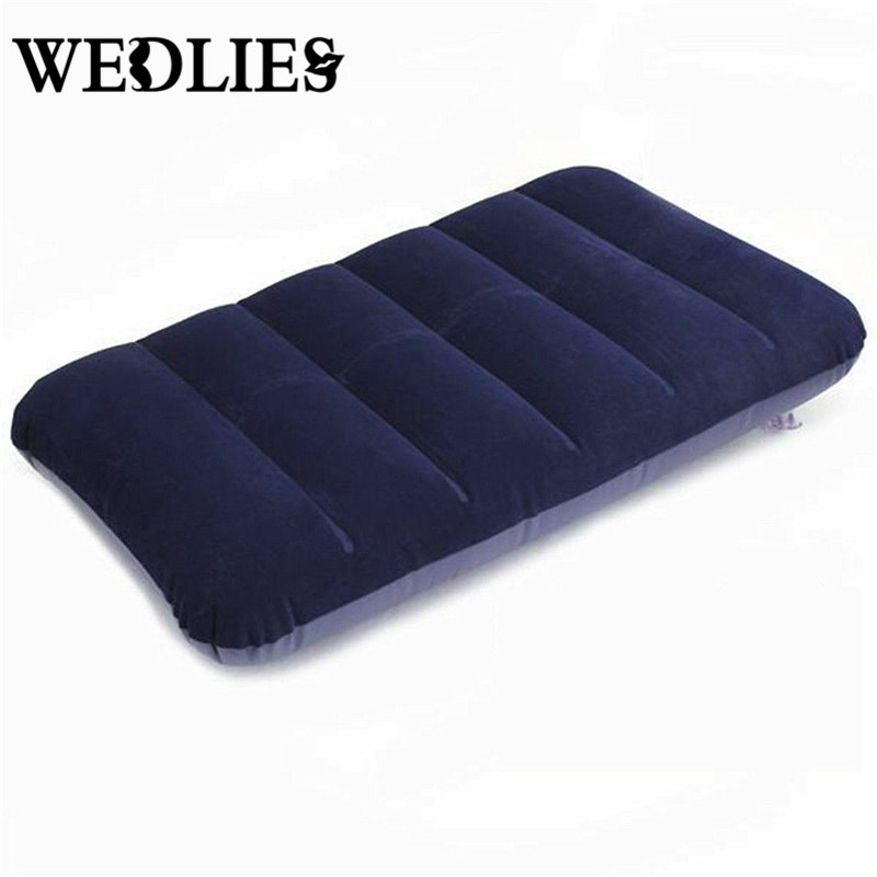 Car Travel Air Cushion Rest Pillow Dark Blue Inflatable ...