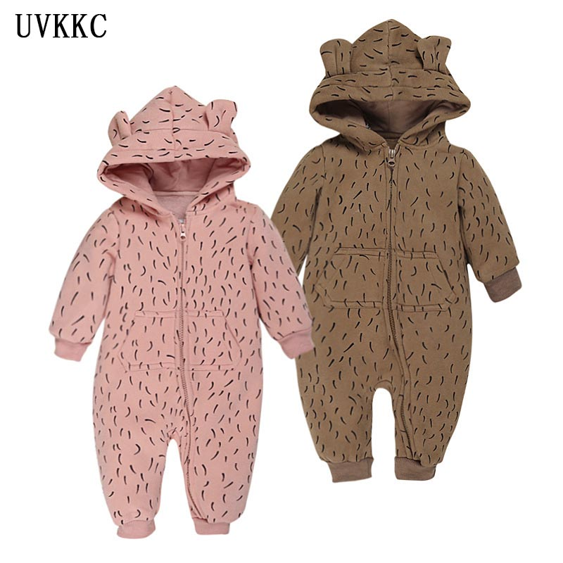 UVKKC Winter Newborn Baby Rompers Cartoon Infant Girls Boys Jumpers Baby Clothing roupas de bebe Baby Costume kids Outfit