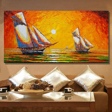 Горячие продажи ручная роспись масляной живописи современный океан масляной живописи на холсте