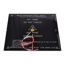 MK2A алюминий heatbed плита MK2A 300*300*3 мм черный 12 В 24 В для Мендель RepRap Рампы 1,4 3d принтер части с подогревом