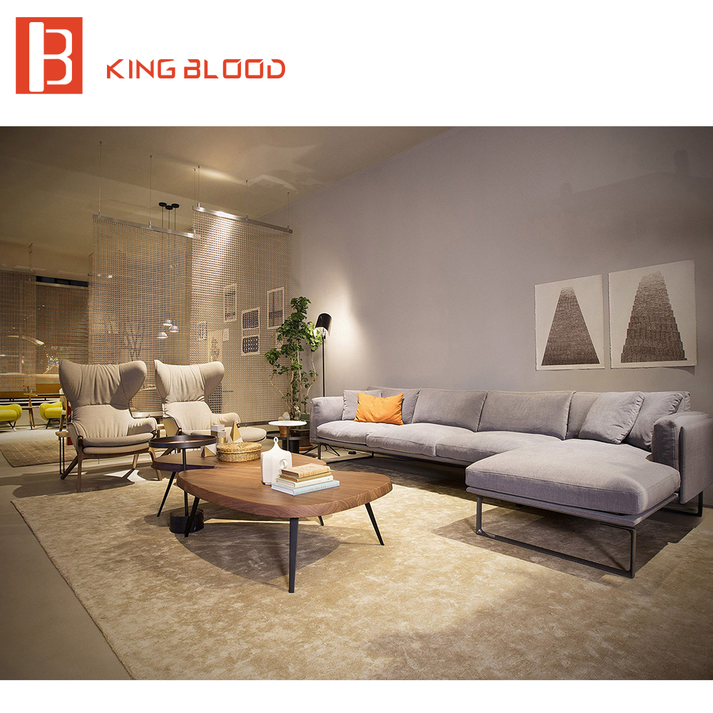 Estilo real Dubai sofá de tela moderna Muebles con metal Marcos en ...