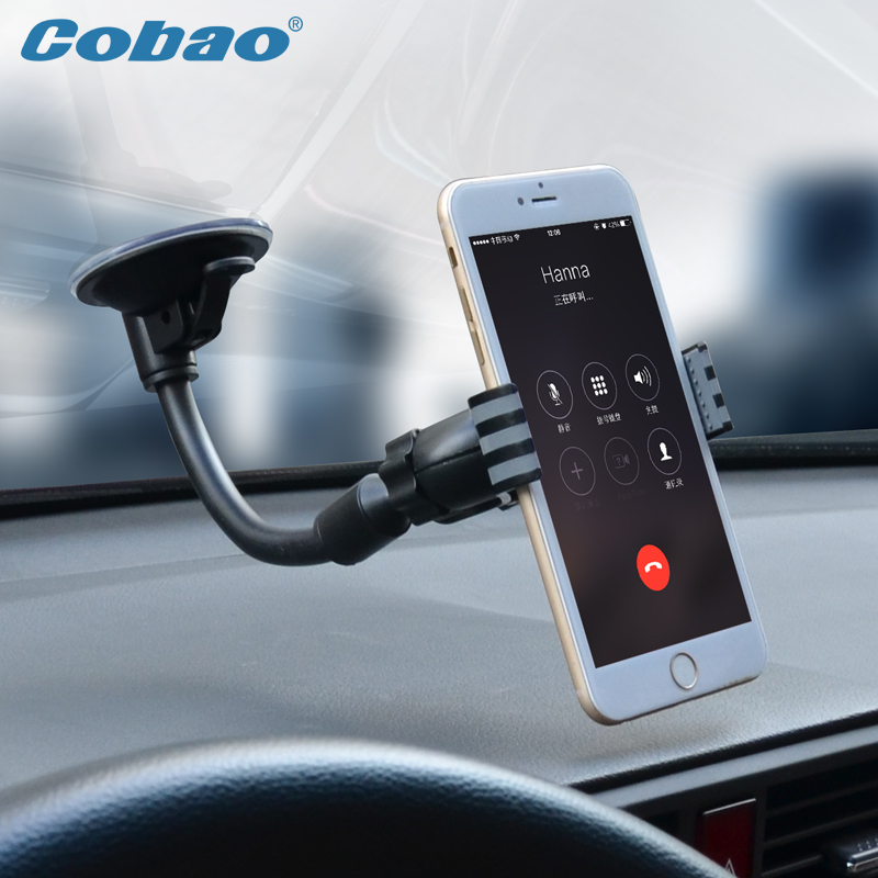 Universal car phone holder stand clip mount holder suitable for Iphone 5 5S 6 6S Samsung Galaxy s4 s5 s6 good quality Cobao