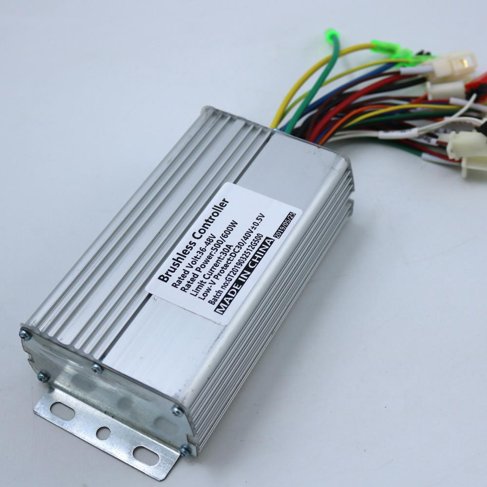 GREENTIME GREENTIME 36V/48V 500W/600W 30 45amax BLDC Brushless מנוע בקר אופניים חשמליים תלת אופן מצב כפול חיישן/Sensorless בקר
