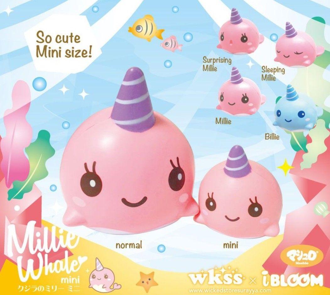 bilder für 2017 10 Teile/los Jumbo Kawaii Nette Squishy Whale Millie Cartoon Langsam steigenden Squeeze Stretch Vent Brot Kuchen Kind Spielzeug Geschenk großhandel