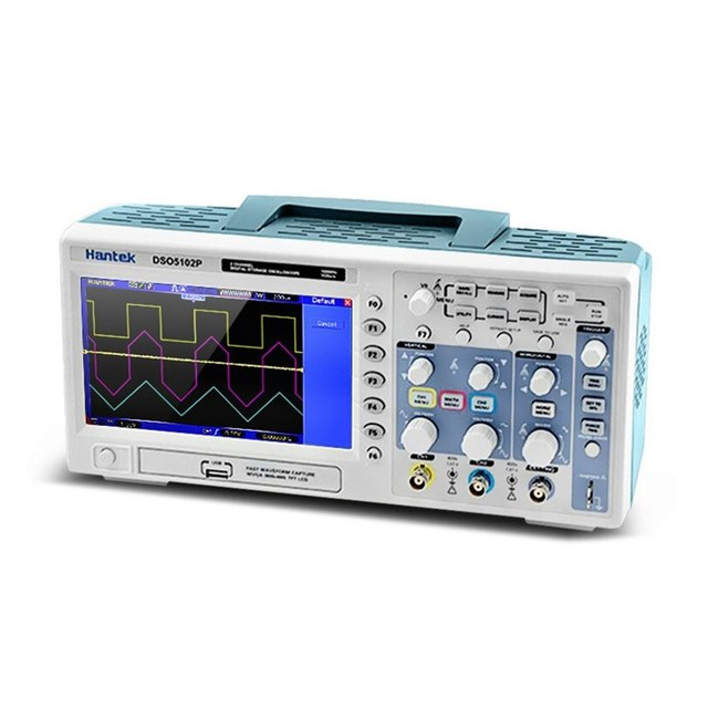 "Best Offers DSO5102P Digital Storage Oscilloscope 100MHz 1Gsa/S 2-CH 7"" TFT Display USB WD Portable Handheld Oscilloscope"