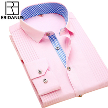 2016 Spring New Arrival Men Dress Shirts High Quality Male Long Sleeve Three Dimensional Married Groom Tuxedo Shirt S-4XL M024