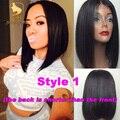 130 плотность бразильский виргинский человеческие волосы короткие боб cut фронта шнурка парик волосы младенца прямо полный шнурок парик человеческих волос для черных женщины