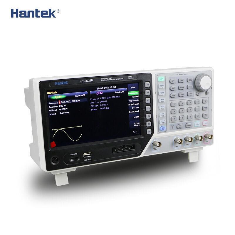HDG2022B générateur de Signal 2CH 20 MHz 250MSa/s DDS Signal de fonction générateur de forme d'onde arbitraire générateur de signal 64 M profondeur de mémoire USB