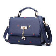 Korean Style Fashion Shoulder Bag Women Sweet Style Casual PU Leather Chic font b Handbag b