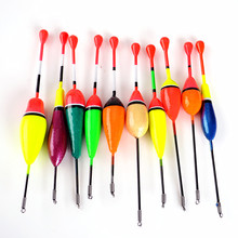 Hot New 10PCS/Lot Mix Size Color Ice Fishing Float Bobber Set Buoy Boia Floats For Carp Fishing Tackle Accessories