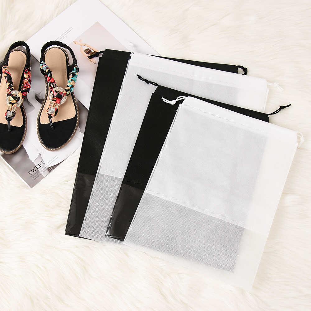 1 قطعة أحذية مضادة للماء حقيبة التخزين الحقيبة المحمولة السفر الرياضة المنظم الرباط غطاء حقيبة غير المنسوجة الغسيل الحقيبة المنزل أداة