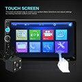 7010B 7 ''HD MP5 Rádio MP3 de Música de Áudio Bluetooth Estéreo Do Carro Player de vídeo Tela de Toque 2-DIN FM USB AUX + Auto Vista Traseira câmera