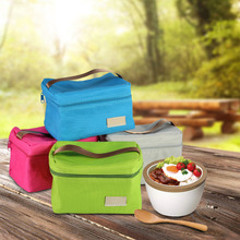 4 Colors Optional Large Capacity Useful Outdoor Travel Camping Nylon Lunch Bag Picnic Cooling Storage Bag Durable Polyester
