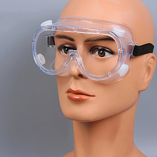 Glasses Transparent Breathable Protective Professional Safety Goggles with Anti-fog Sand Industrial Dust Lightweight JYD0037