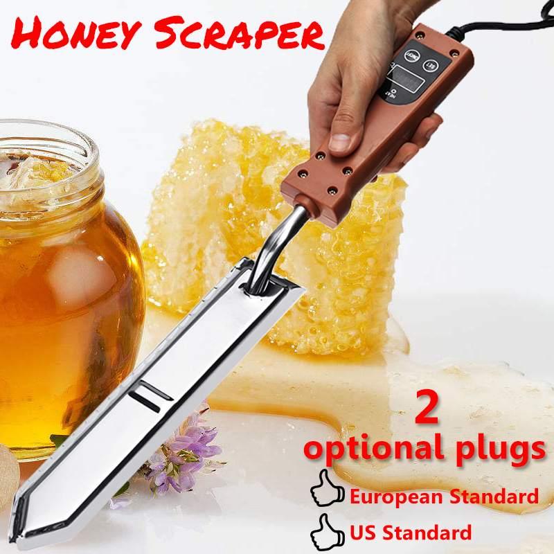 Couteau à miel électrique ferme équipement apicole abeille poignée chauffante électrique outils en bois grattoir à miel prise EU/US