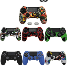 18 Colors Soft Silicone Rubber Skin Case For PS4 Gamepad Protective Cover For Sony Play Station4 Pro Slim Controller Camo Style