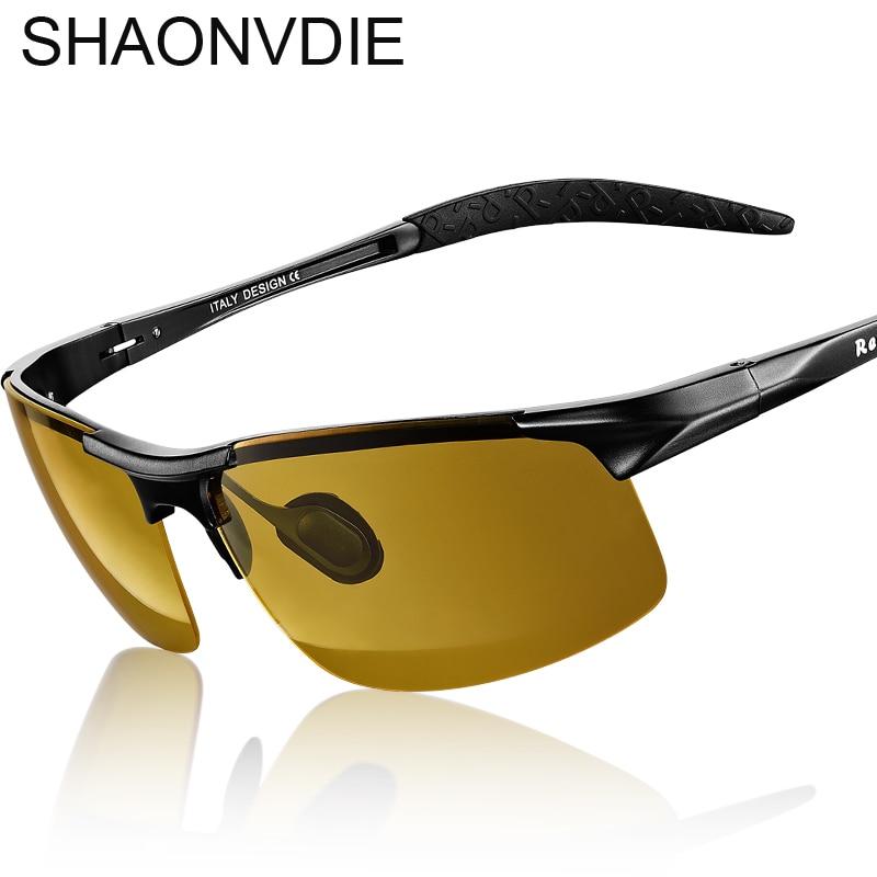 2017 Nova Visão Noturna Óculos De Sol Dos Homens Da Marca Designer de Moda  Óculos Polarizados Condução Noite Reforçada Luz anti-reflexo Óculos SN001 6f9fa565c5