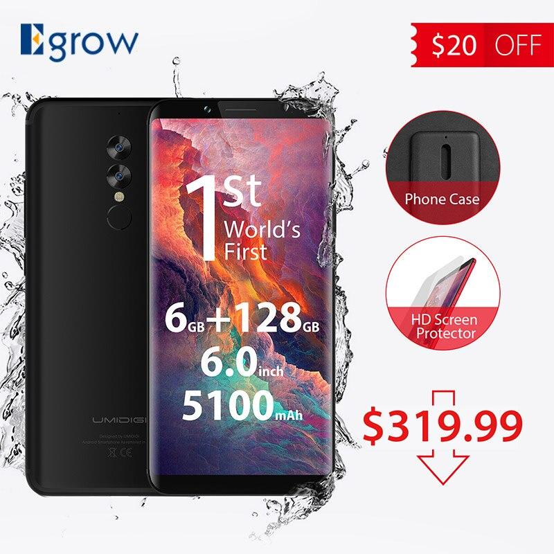 Оригинальный umidigi S2 Pro полный Экран 6.0 дюймовый мобильный телефон Новый helio P25 6 ГБ Оперативная память 128 ГБ Встроенная память ячейки телефоны ...