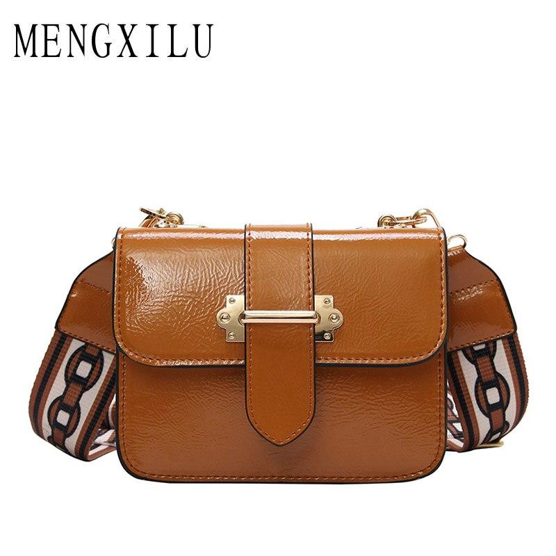 MENGXILU Saddle Crossbody Bag Для женщин Курьерские сумки Мода круговой кожа ретро Марка Металлические Кольца, сумки для девочек круглый леди