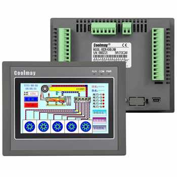 4.3'' HMI PLC All-in-one Integrated CPU Controller 4.3Inch Touch Panel DC24V Relay Output Digital I/O 12DI 12DO RS232 RS485 FX2N - DISCOUNT ITEM  6% OFF All Category