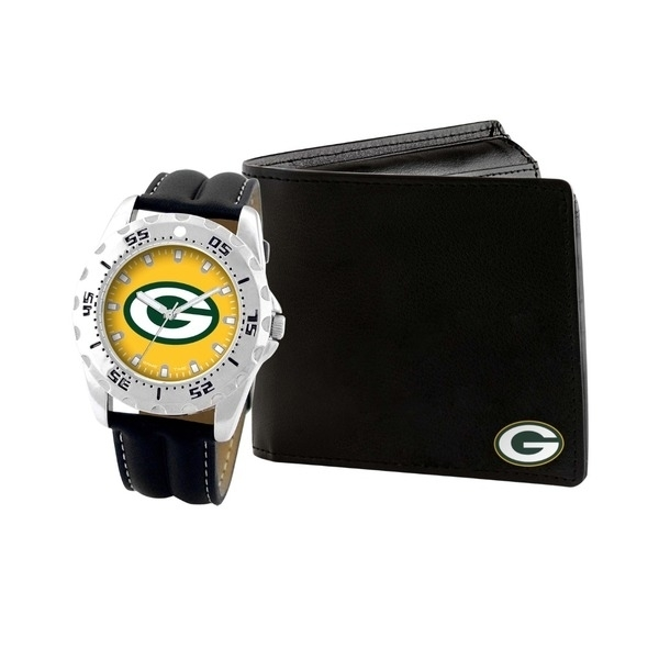 Game Time NFL-WAW-GB Silk Screen Bi-Fold Green Bay Packers Watch & Wallet Gift Set кепка printio green bay packers
