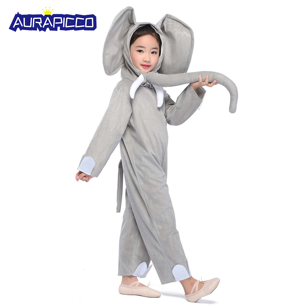 Bayby Elephant Costume Kids Animal Elephant Costume For Children Animal Costume Jumpsuit Headwear Halloween Costumes For Kids