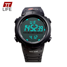 TTLIFE Men Sports Digital Watch Running 30m Waterproof LED Electronic Clock Fashion Military Casual TS07 Business Wristwatch