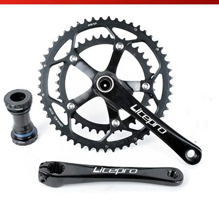 Bicycle Double chain ring crankset BMX Road Bike Crank 130BCD 53-39T ROUND  Chain ring west biking bike chain wheel 39 53t bicycle crank 170 175mm fit speed 9 mtb road bike cycling bicycle crank