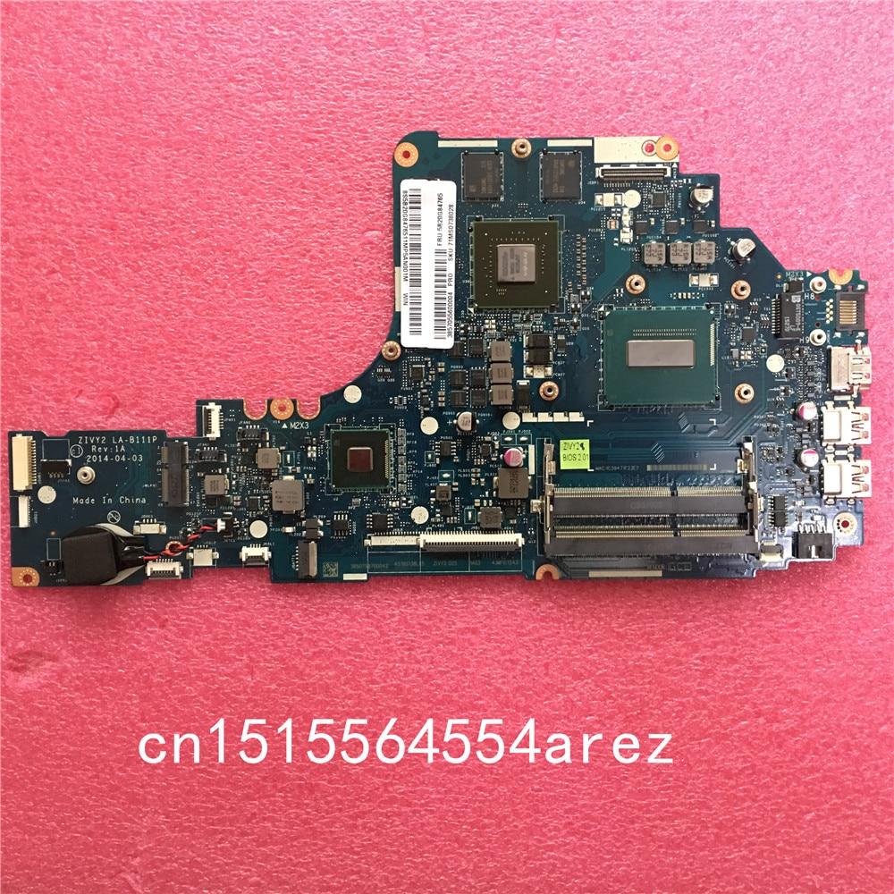 New And Original Laptop Lenovo Y50-70 W8P I5-4210H CPU 4G Motherboard Mainboard ZIVY2 LA-B111P N15P-GX-A2 5B20G84765