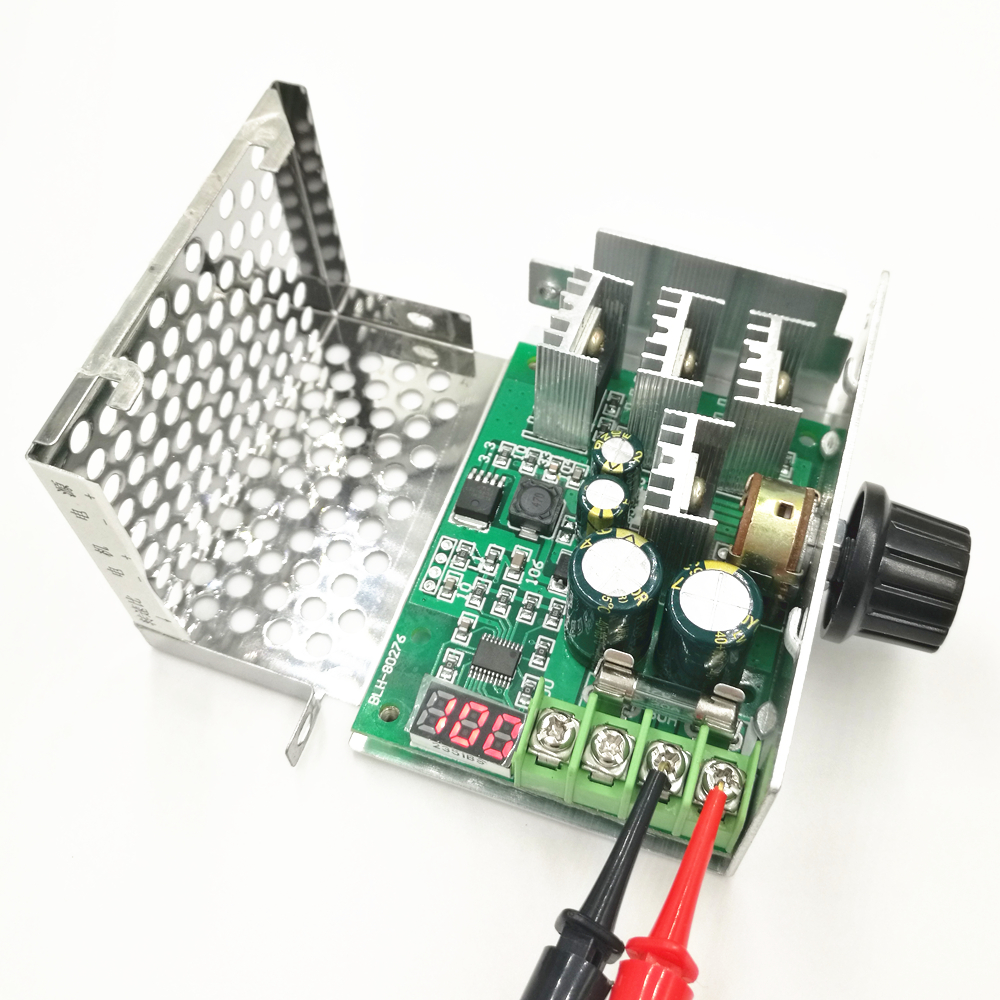 Motors & Parts Electrical Equipments & Supplies 100% Quality Dc6-60v 30a Digital Display 0~100% Adjustable Drive Module Pwm Dc Motor Speed Controller With Case