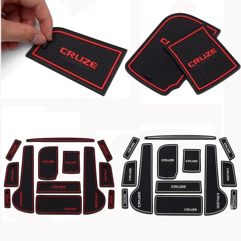 13pcs /set car Non Slip Interior cup cushion Door Mat covers Cup Mat stickers Fit For Chevrolet CRUZE 2009 2014 Door Groove Mat|mat stickers - title=