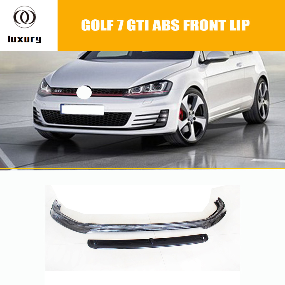 MK7 GTI ABS Black Front Bumper Lip Chin Spoiler for VW Golf 7 GTI 2014 - 2018 ( Can't fit Standard Golf 7 & R R-line Model ) fit 36 28 7