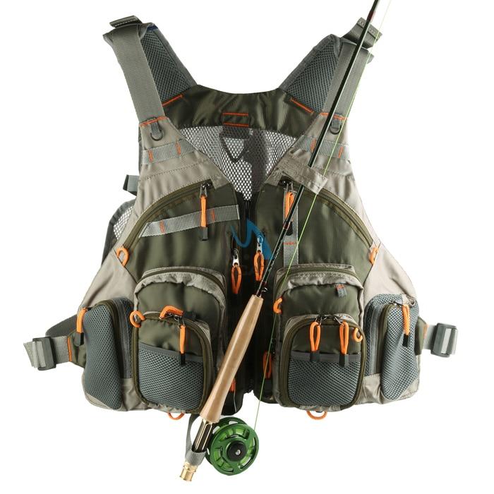 Professional Fly Fishing Vest Multi-pocket Mesh Sleeveless Fish Fishing Waistcoat Jacket Fishing Tackle Accessories Free Size