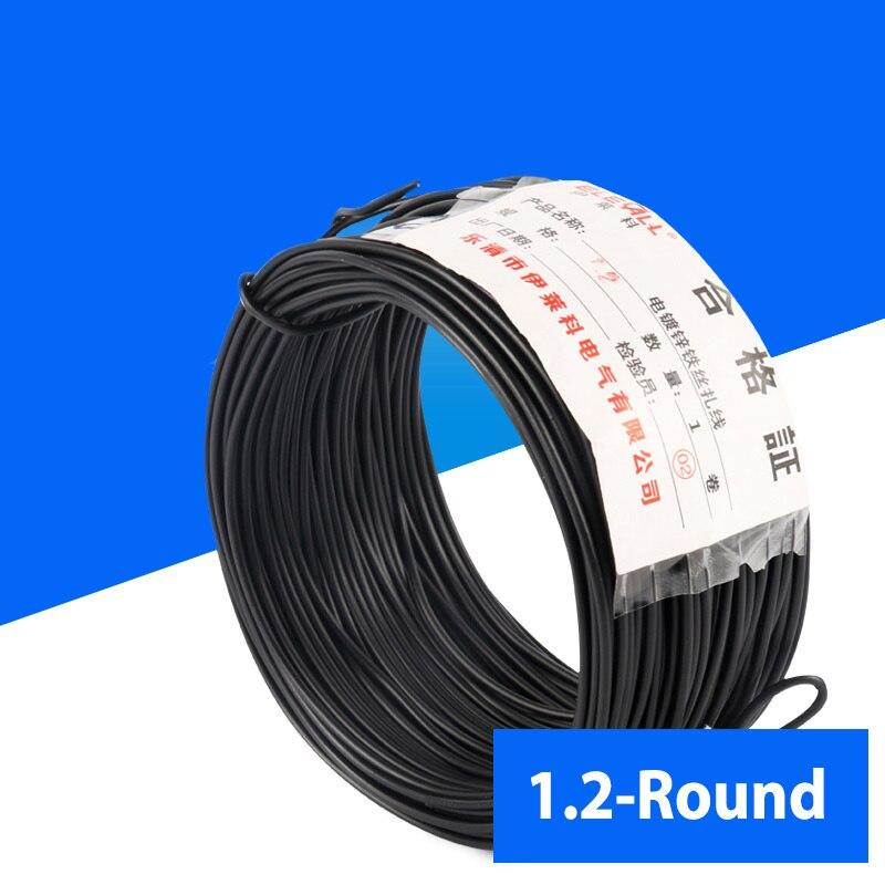 1.2mm Cable Tie Galvanized Wire Black Flate Shape Garden & Arrangement Approx