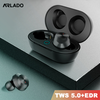 Arlado TWS 9 Bluetooth Earphones Earbuds Mini Wireless Touch Headset with Charging Box IPX5 Waterproof Airpods for Smart phone